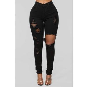 Fashion Nova Glistening Jeans Black